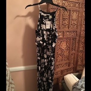 Black and white/cream flower Lush dress